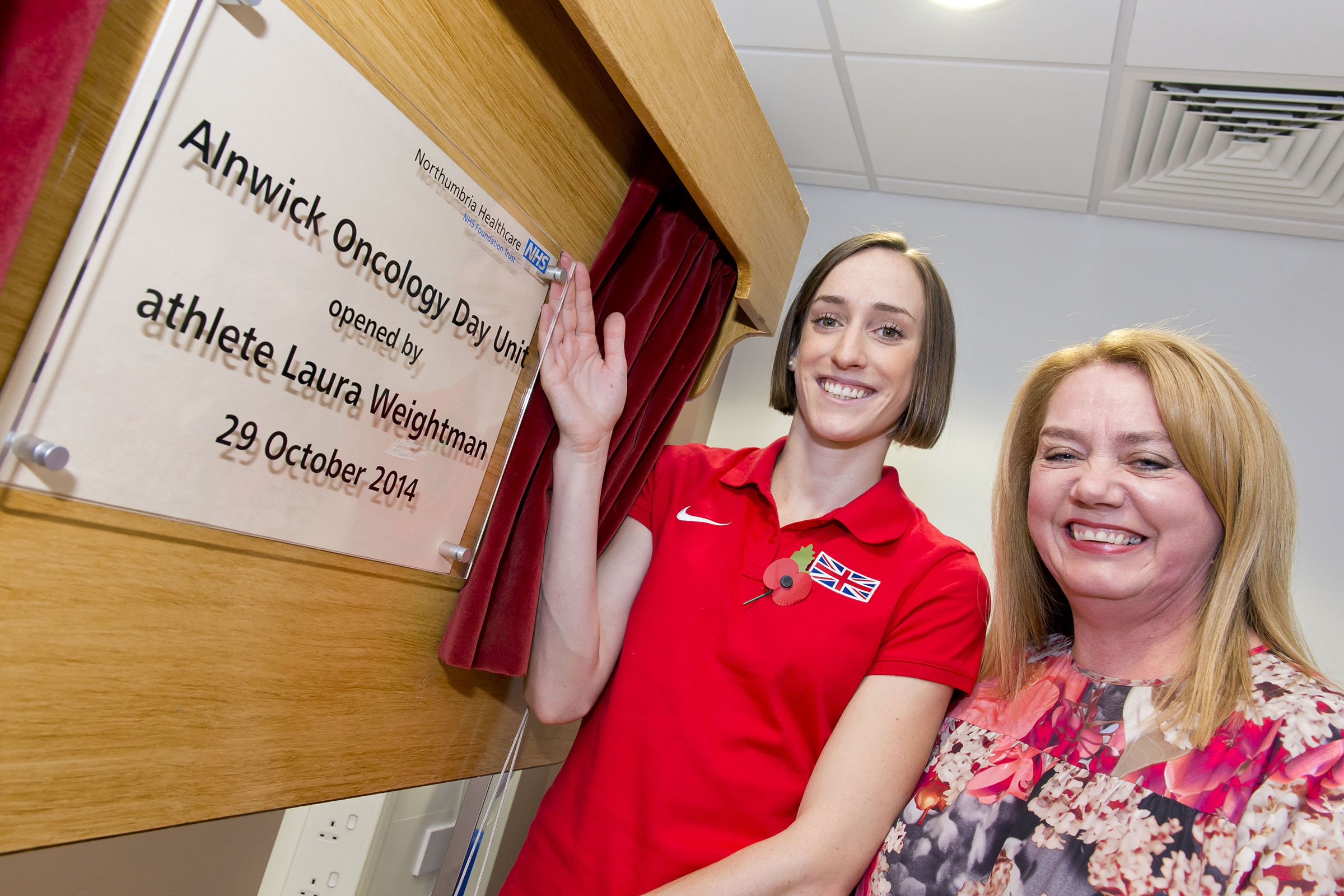 Athlete Laura Weightman officially opens Alnwick's new oncology unit