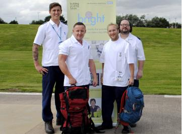 Wansbeck A&E lads step out on fund-raising walk