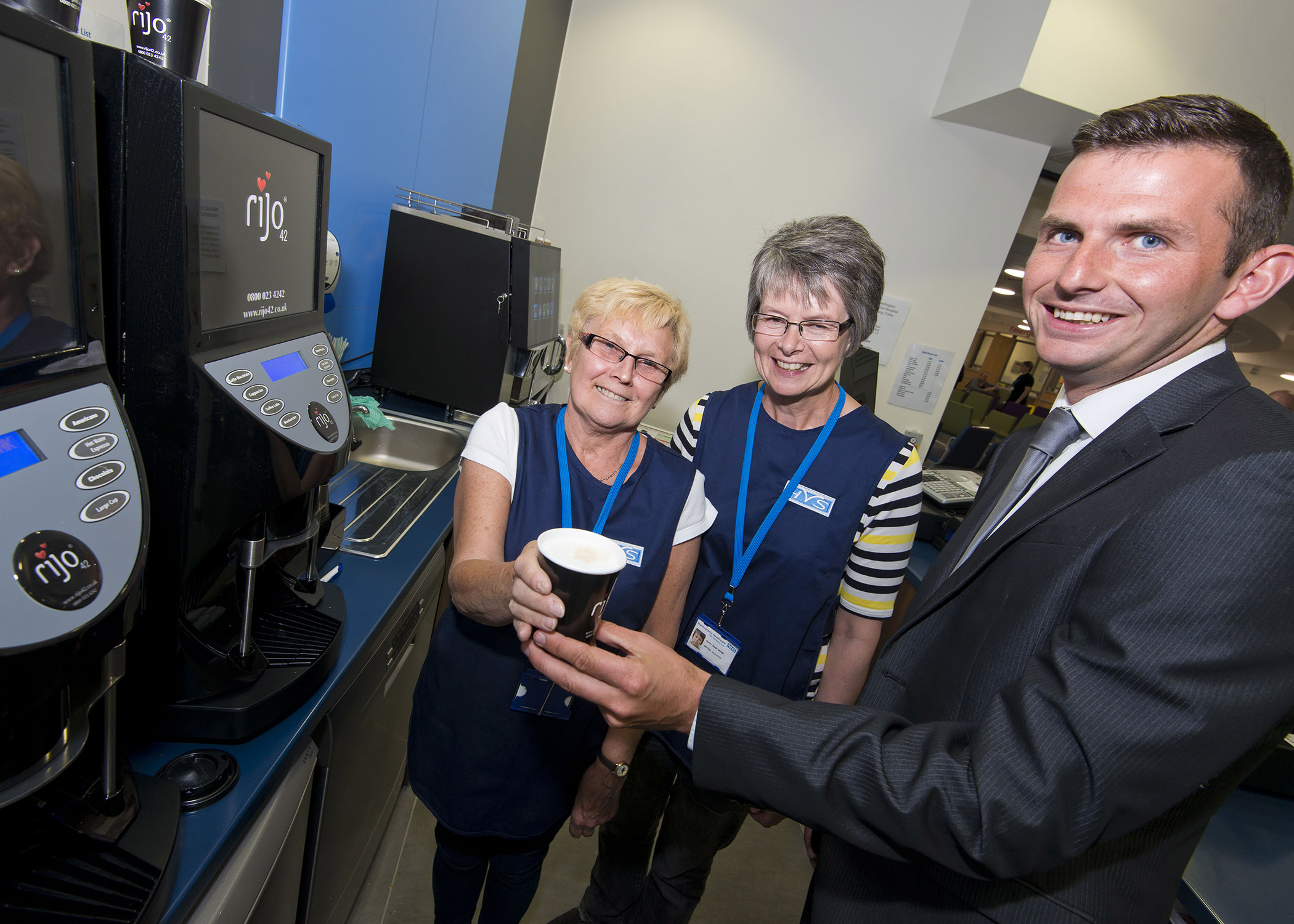 Top flight referee Michael blows whistle to open shop at new Northumbria hospital