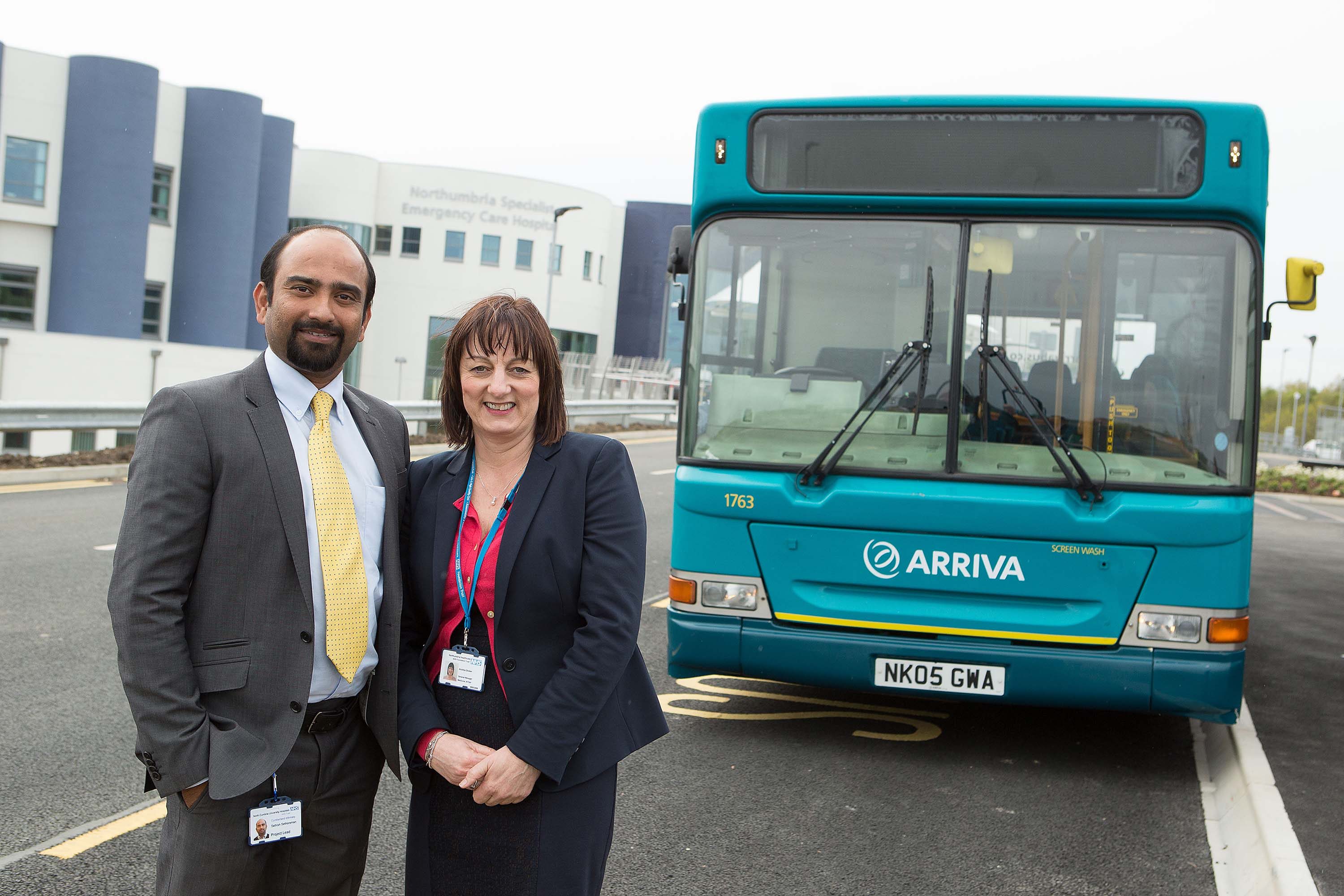 Bus service 'just the ticket' for new Northumbria hospital