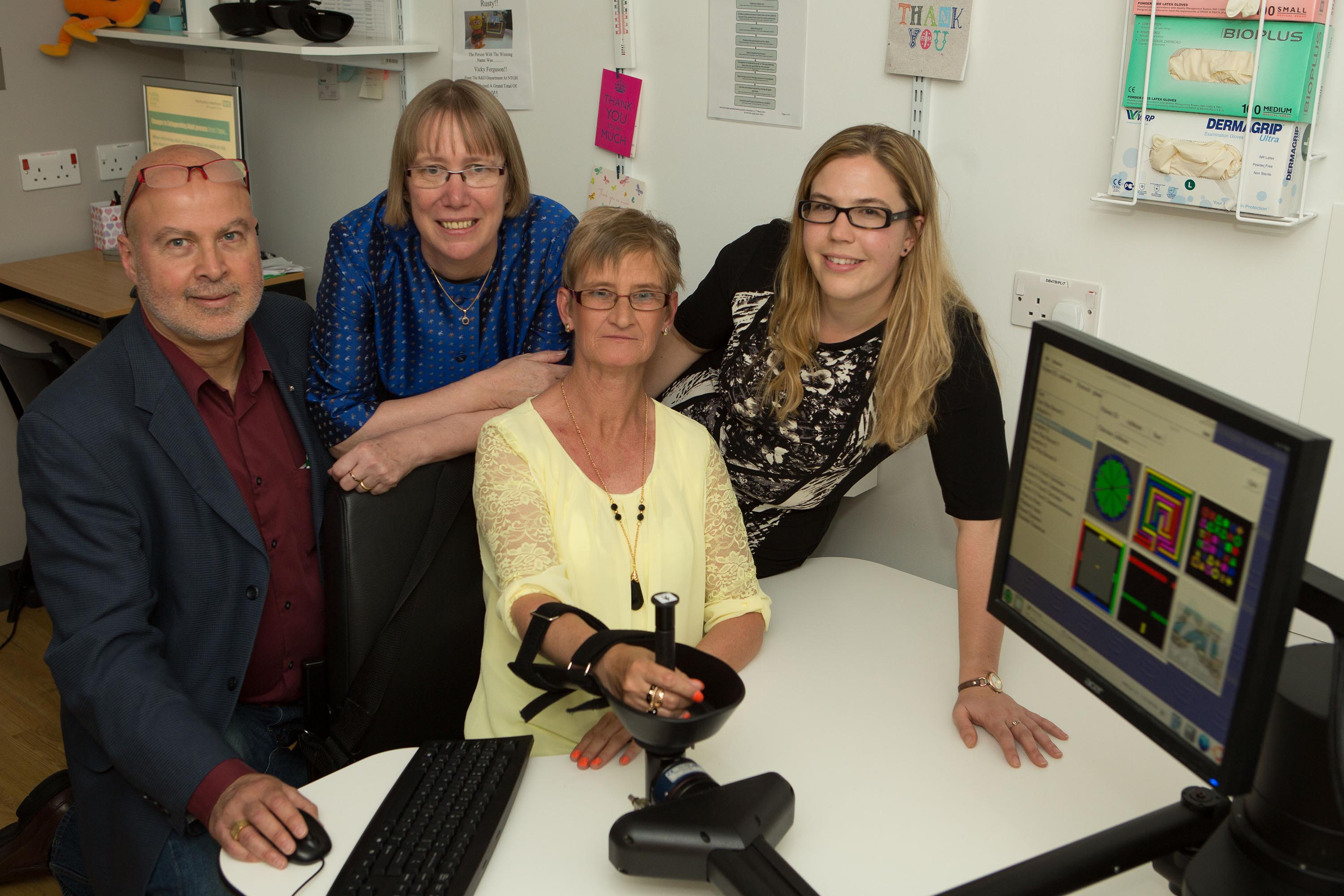 US stroke robot pioneer visits patients and staff at North East hospital