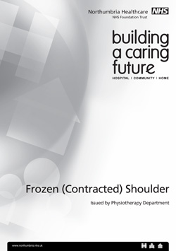 Frozen (contracted) shoulder