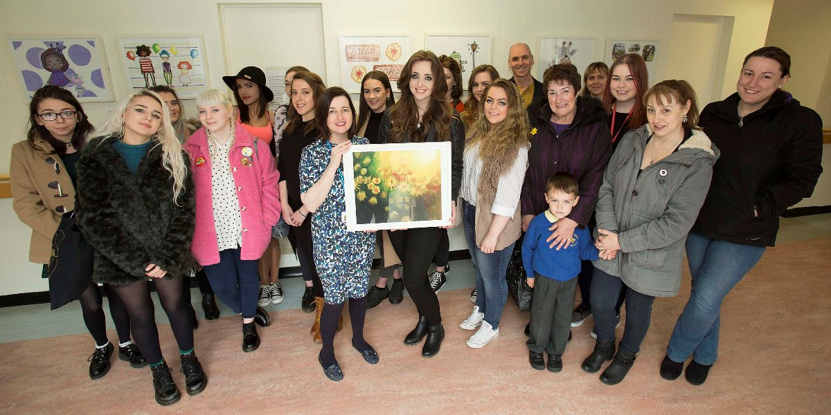 Newcastle College student exhibition on show at North Tyneside hospital