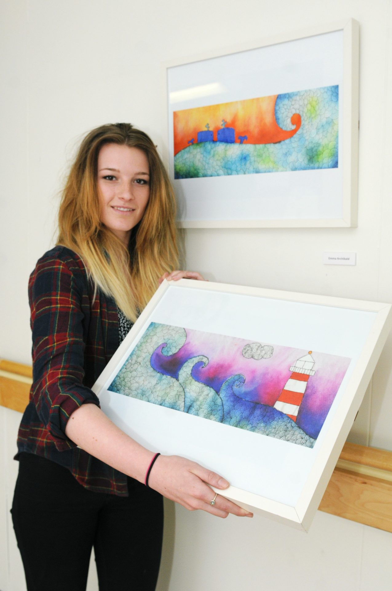 Exhibition by students from Newcastle College unveiled at North Tyneside General Hospital