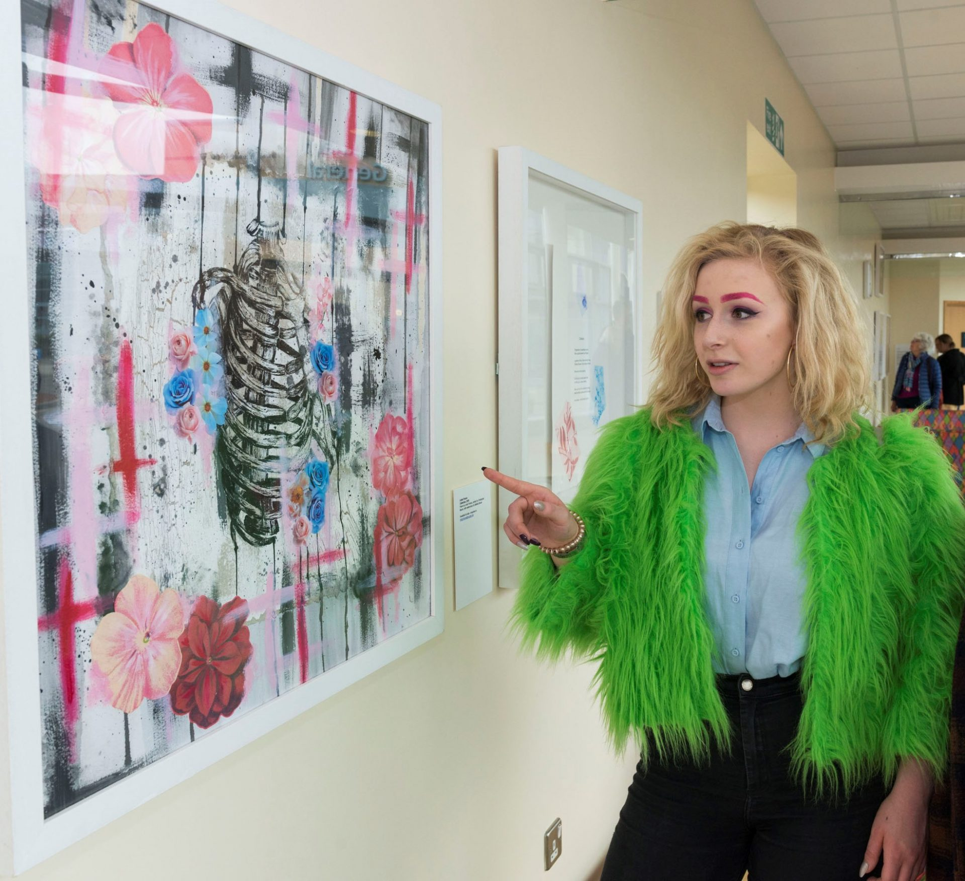 'Touch' exhibition unveiled at Hexham General Hospital, April  2018