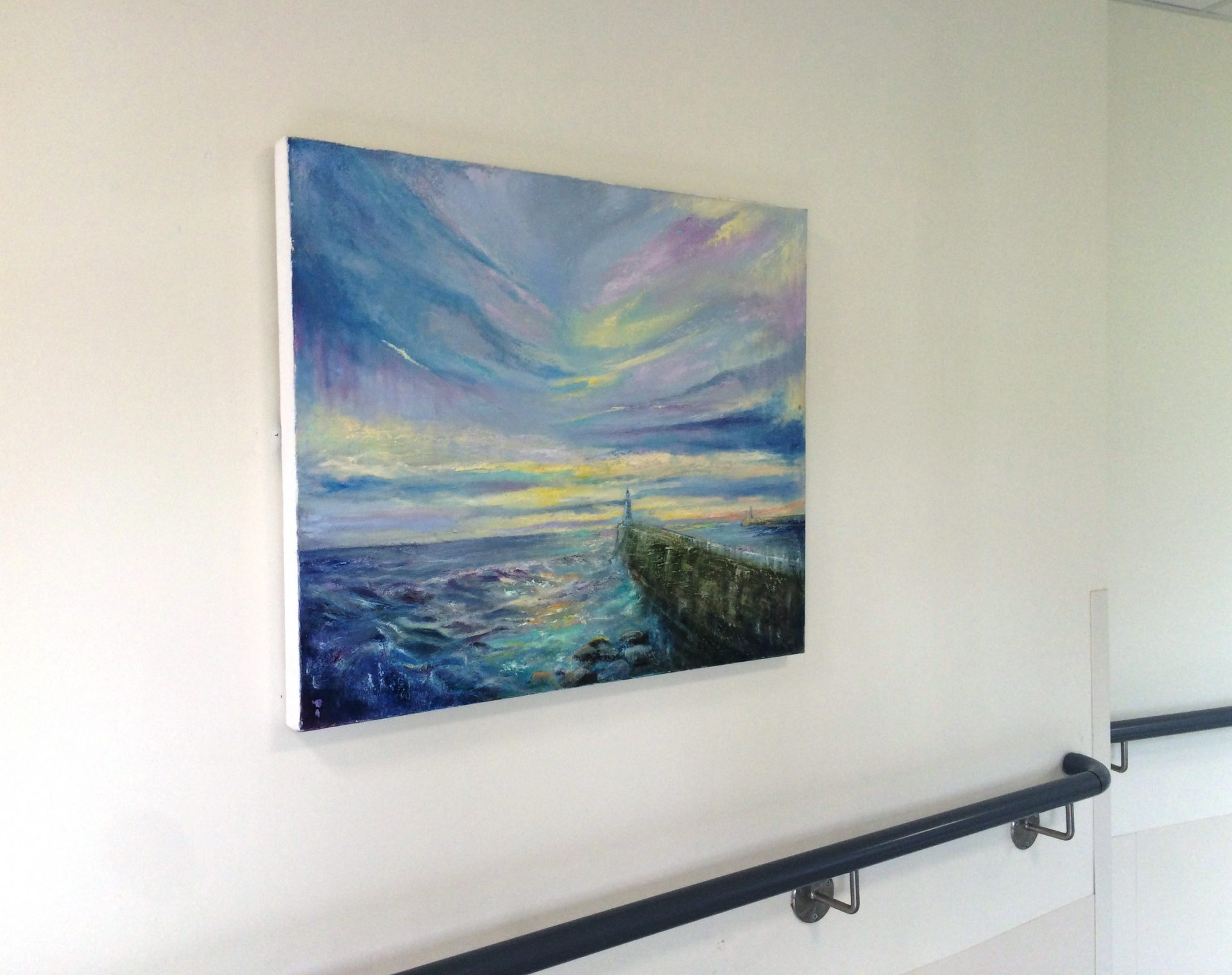 Painting by Linda Marriott on display at The Northumbria Hospital, May 2018