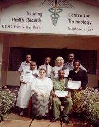 Linda Gibbs & first cohort of clinical coders
