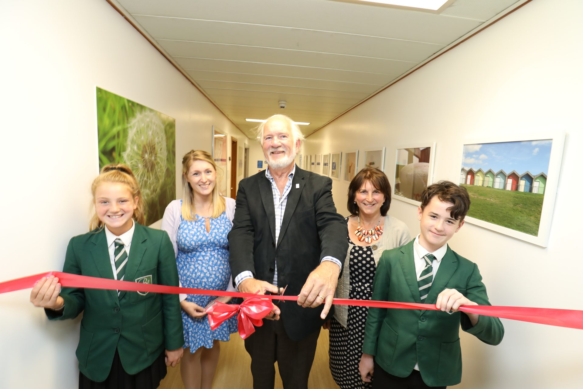 Photography exhibition by Bede Academy unveiled at Blyth Community Hospital, July 2018