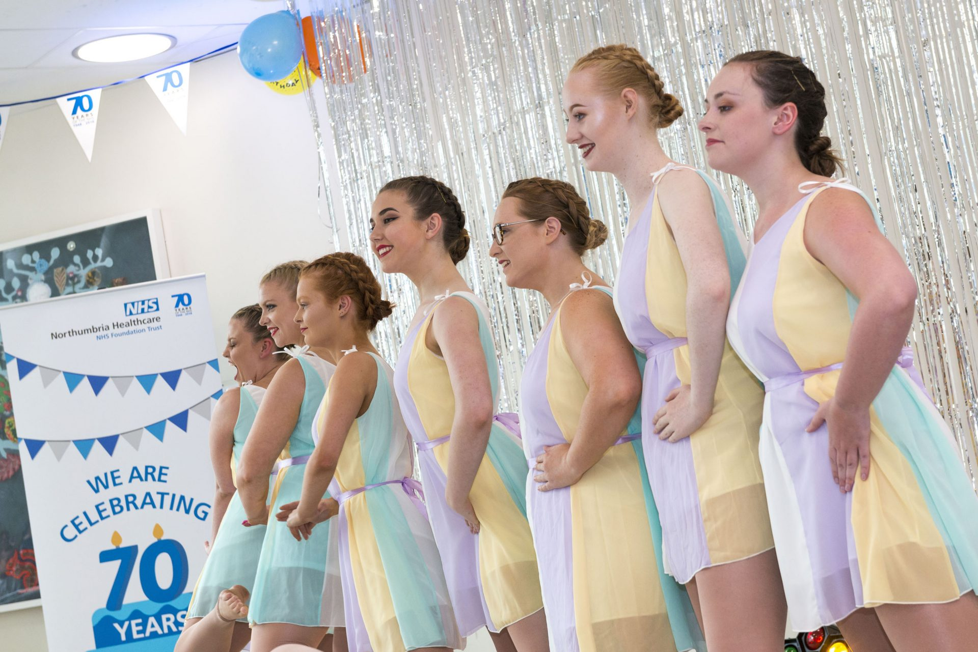 The Stephanie Morgan Dance School perform at the tea dance at The Northumbria Hospital to celebrate the 70th birthday of the NHS, July 2018
