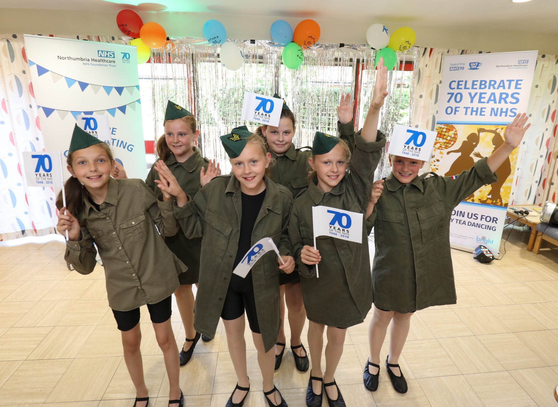 The Lindsey Dance School perform at the tea dance at Blyth Community Hospital to celebrate the 70th birthday of the NHS, July 2018