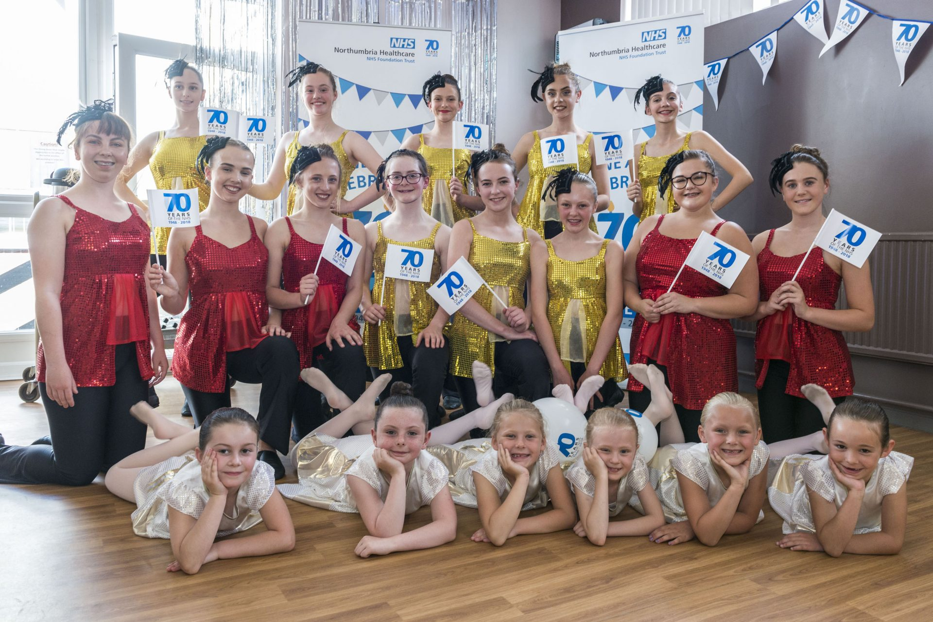 The Alnwick Dance Academy perform at the tea dance at Alnwick Infirmary to celebrate the 70th birthday of the NHS, July 2018