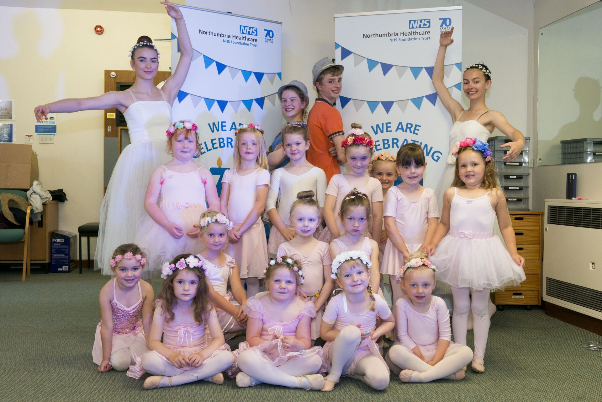 The Jane Keenan School of Dance perform at the tea dance at Berwick Infirmary to celebrate the 70th birthday of the NHS, July 2018