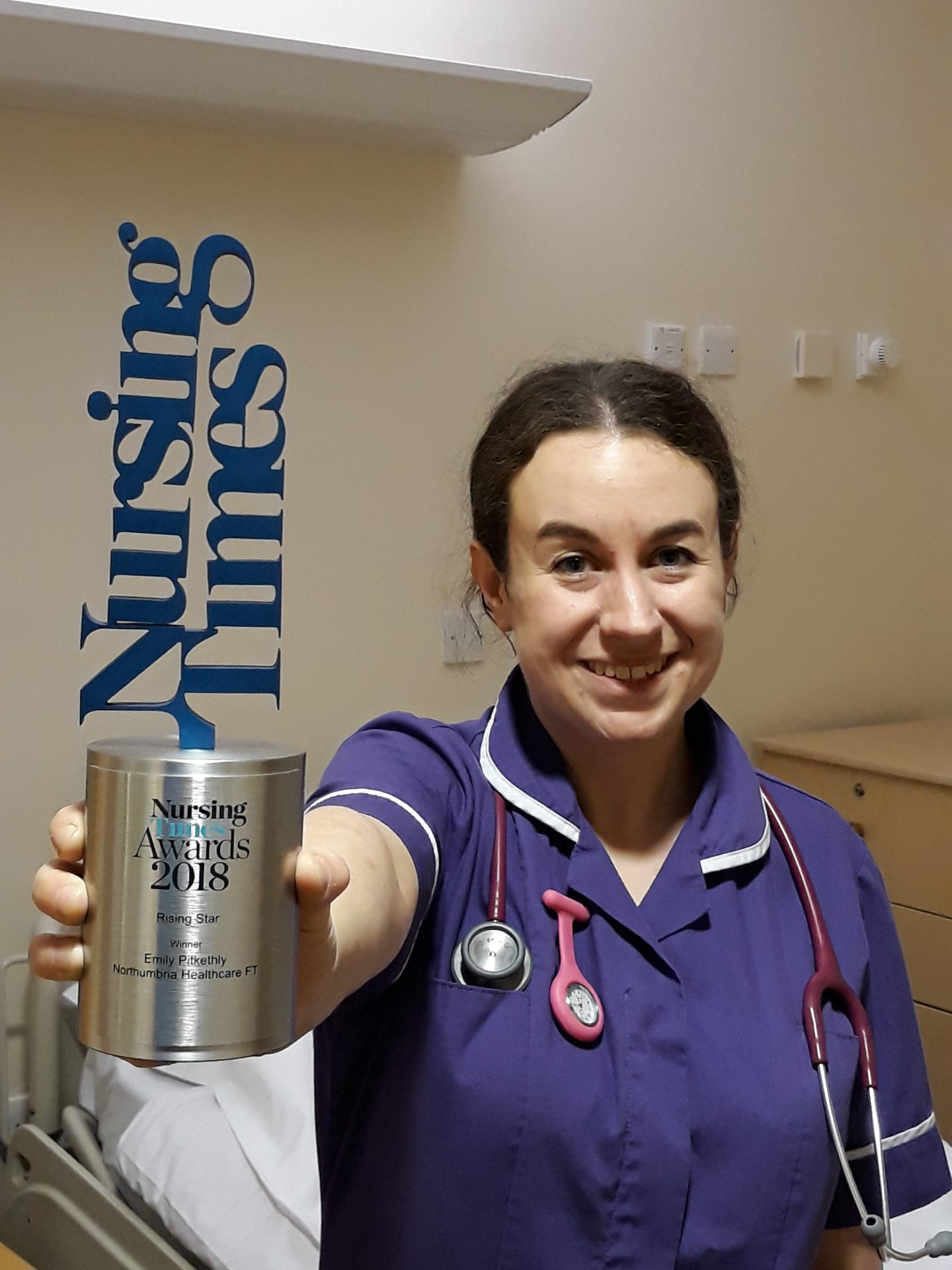 Northumbria nurse Emily named nation's 'rising star'