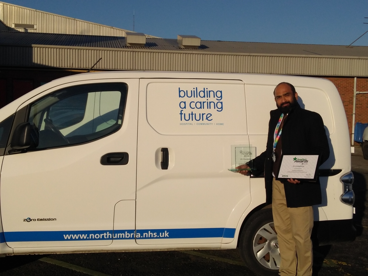 Green award for Northumbria's electrical vehicles