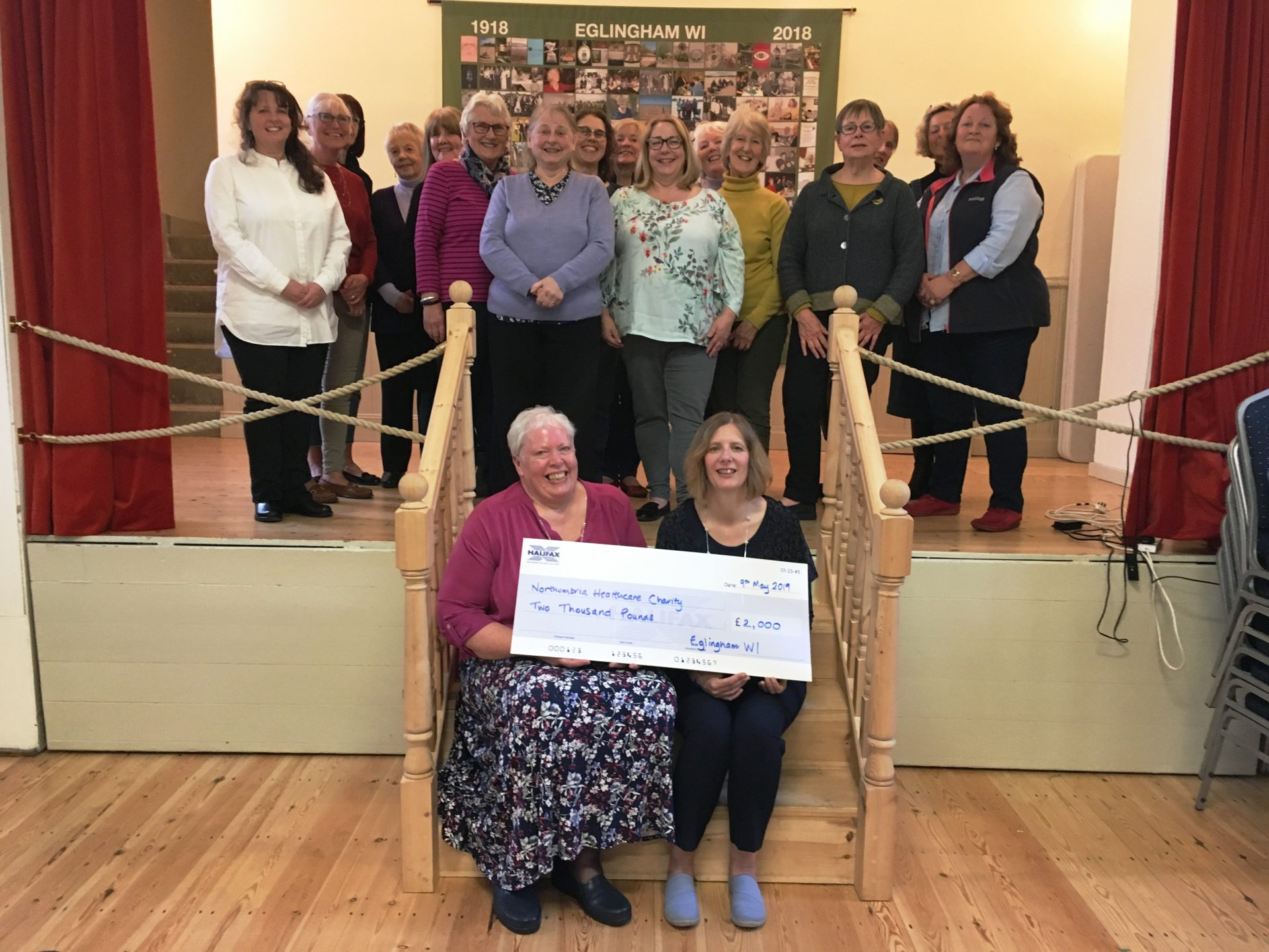 Eglingham WI celebrates centenary year and raise £2,000 to support hospitals