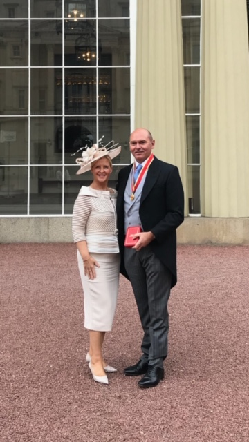 Sir James Mackey receives knighthood at Buckingham Palace