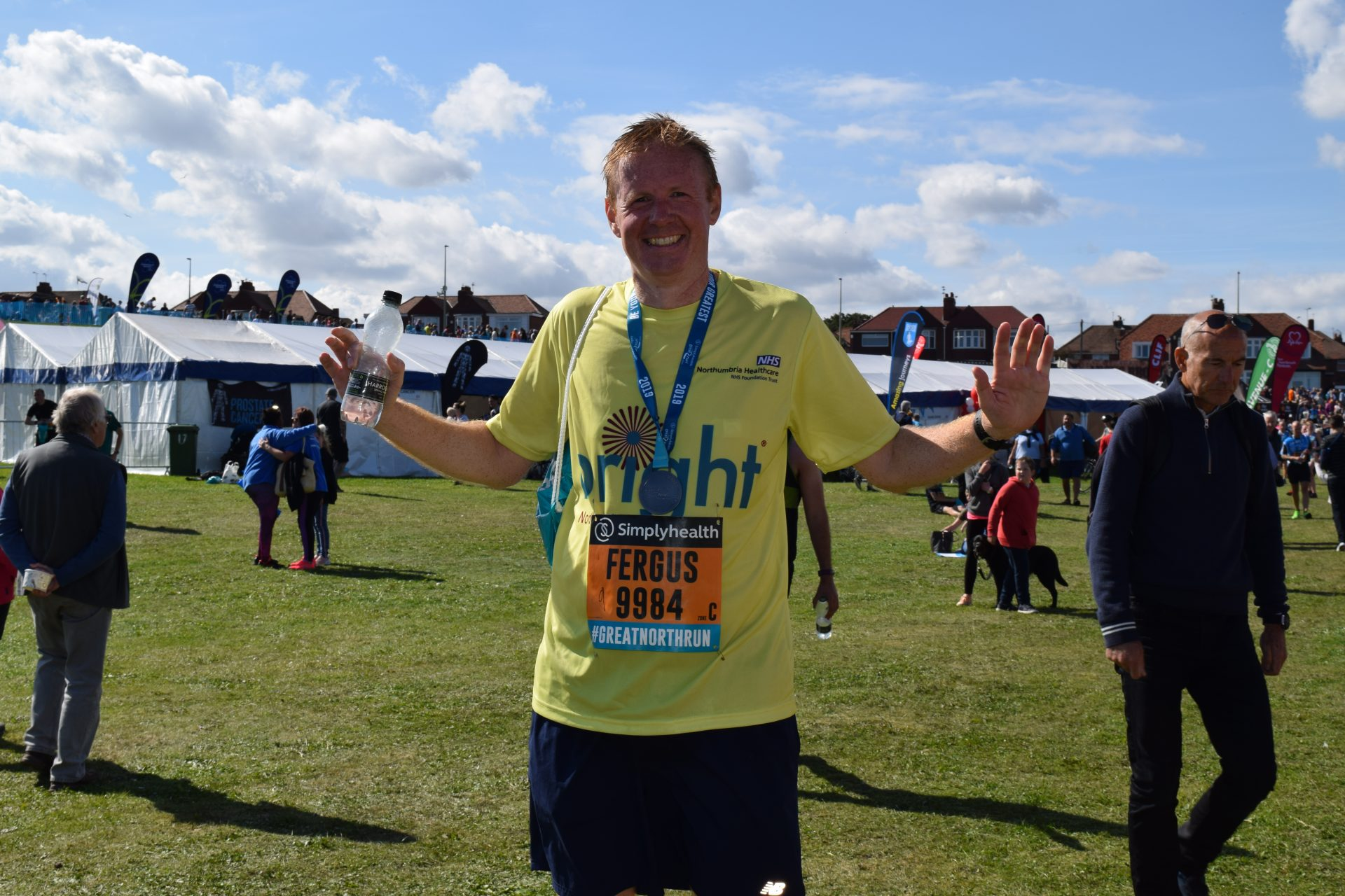 GNR 2019 Our first runner - well done Fergus!