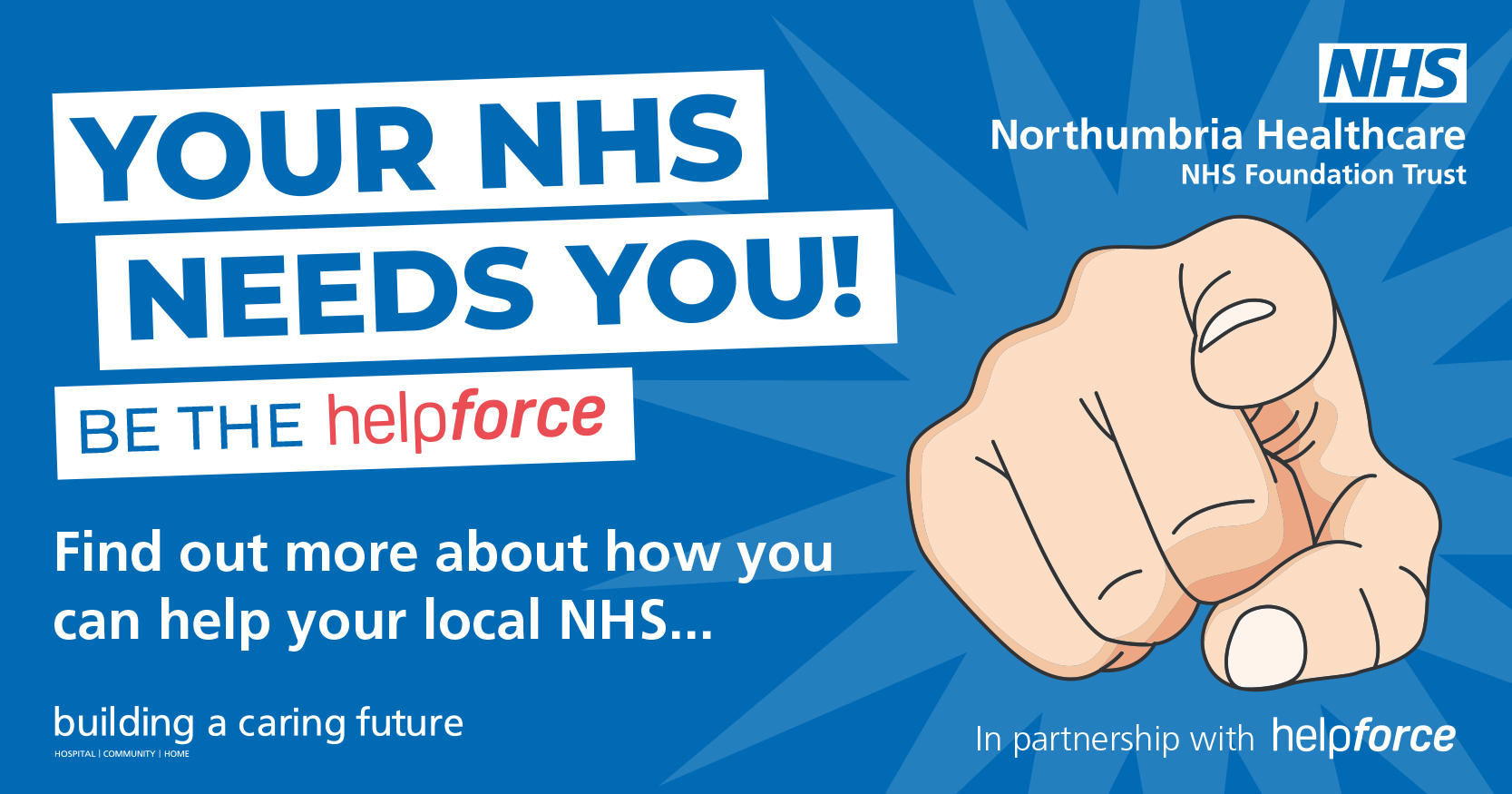 Northumbria call-out for people to lend a hand for the NHS