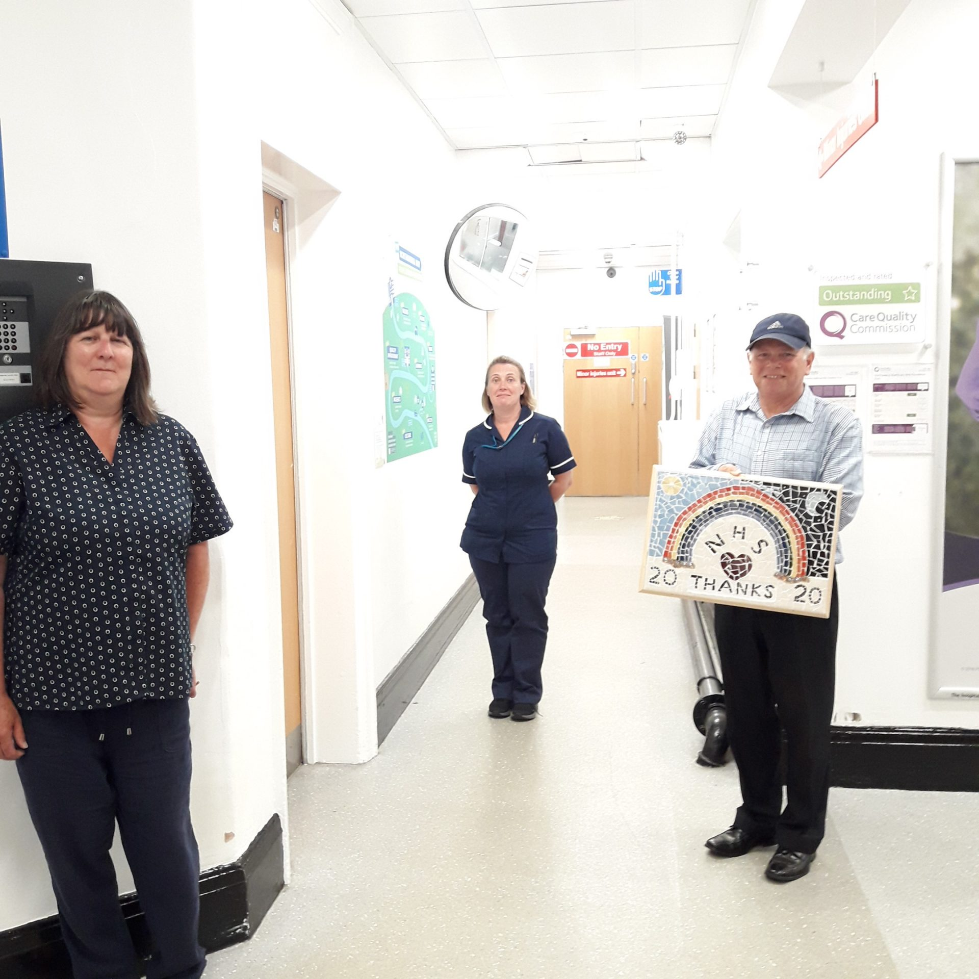 Donation to Alnwick Infirmary to thank NHS staff