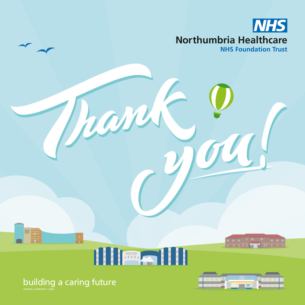 Trust says thank you for standing by Northumbria