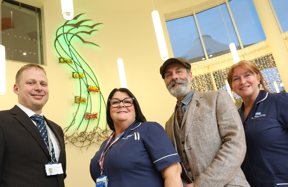 Unveiling of the 'Gift of Life' sculpture at The Northumbria hospital