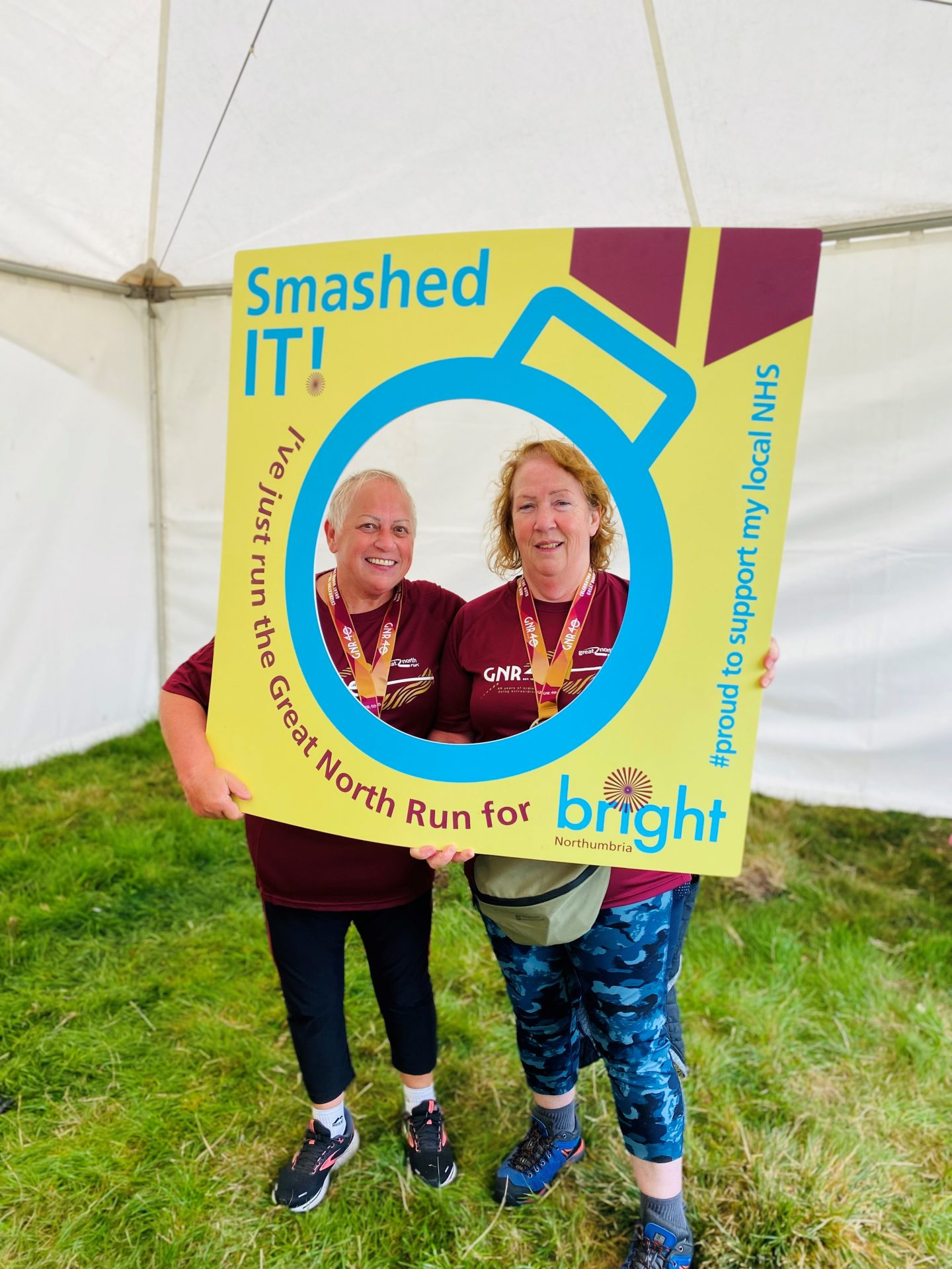 A huge well done to Yvonne & Margaret